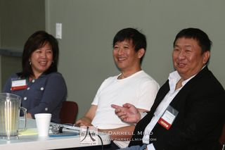 Panelists were lawyer Debra Wong Yang,  producer Teddy Zee, and Vizio founder and CEO William Wang.